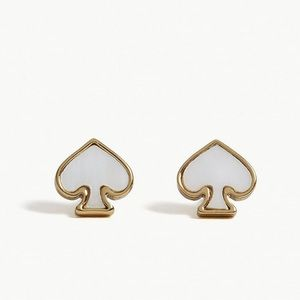 New Kate Spade Signature Pearl Spade Stud Earrings